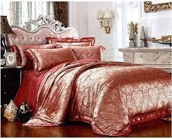 rose gold bedroom set red gold bed linen com for luxury font b satin jacquard bedding