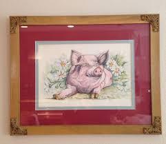 MERLE WHEELER Pink Pig Wilbur Watercolor On Print Signed Limited Ed | Pig,  Wilbur, Pink