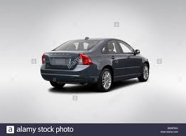 2009 Volvo S40 2.4i ASR PZ in Gray - Rear angle view Stock Photo ...
