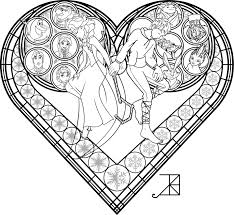 Stained Glass Coloring Page Frosted Love