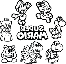 Mario Coloring Pages To Print Nocl Super Mario Coloring Pages