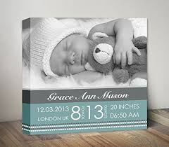 baby birth announcement wall art baby stats nursery wall decor personalized new baby canvas on personalized baby announcement wall art with amazon baby birth announcement wall art baby stats nursery