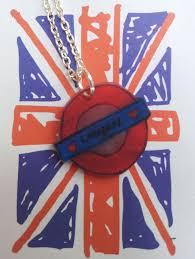 London Underground Symbol Charm Necklace. £4.50, via Etsy.   Handmade,  Charm necklace, London underground