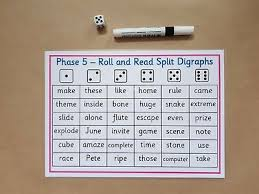 Kids practice sounding out words and get to know the sound x makes when it comes at the end of a word in this phonics worksheet. Phase 5 Roll And Read Split Digraphs Phonics Literacy Ks1 Teaching Resource Ebay