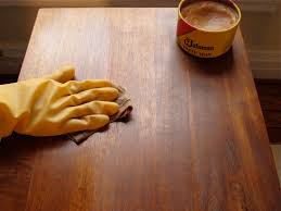 furniture wax. wax has been used since the very beginning of written history on wood items that needed to be protected, both as a finish bare and protect furniture