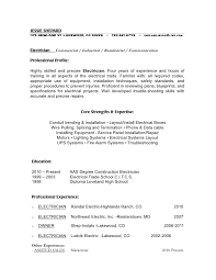 Electrician Resume. Sample Resume Electrician Canada - Resume For ...