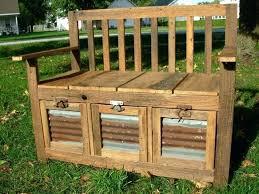garden storage box outdoor deck benches waterproof plastic bench