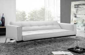 Plain Modern Leather Sofa Bed To Concept Ideas