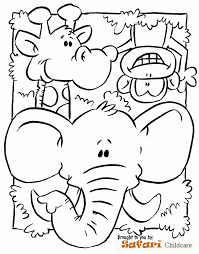 Safari Coloring Page Preschool Submited Images Pic 2 Fly Pst