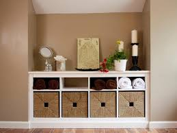 Storage Baskets: Bathroom Decorating Using Light Brown Bathroom ...