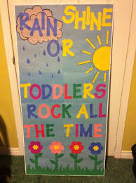 Spring door decorations classroom rain or shine, Spanish rocks all the  time! Description from