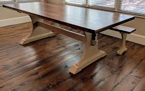 building a trestle table dining table