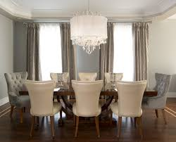 chandelier for dining room. Crystal Chandelier Hall Dining Room Transitional With Geometric Fabric Off-white Chair For