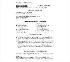 Law Enforcement Resume Template Adorable Law Enforcement Resume Letsdeliverco