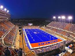 Boise State Broncos Stadium At Night Boise State Football