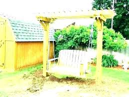 yard swing plans backyard outdoor frame a porch lawn deck stands with stand baby diy set