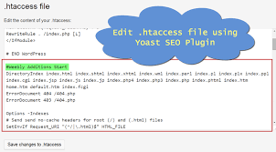 how to edit htaccess file in wordpress