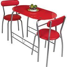 miami red glass dining table and 2 chairs breakfast set tables chairs furniture graded electricals direct