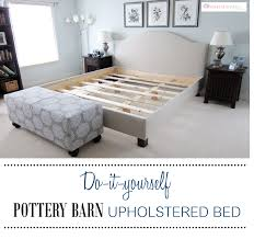 DIY Pottery Barn Upholstered bed | Upholstered beds, Pottery and ...
