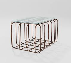 rectangular coffee table with iron base