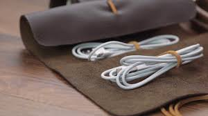 awesome leather craft make your own cable organizer
