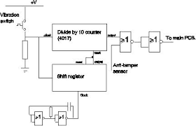 bicycle alarm electronic project electronics information from circuit diagram for vibration switch counter to remove false alarms on bicycle alarm