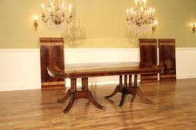 large 13 foot double pedestal mahogany dining room table seats 16 people
