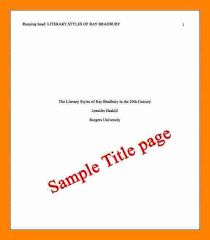 Sample Apa Essay Cover Page Apa Style Cover Page Formatting