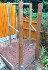 next up sent to us by xavi and samantha who decided to build their own pull up and parallel bar station in their garden for themselves and their pt