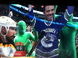 The canucks play their home games at rogers arena, which has an official capacity of 18,910. Vancouver Green Man With Ben Affleck In Game One Of Stanley Cup By Alex B Ride The Pine Medium