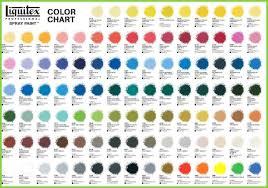 Artist Loft Sketch Markers Color Chart Artist Loft Acrylic Paint Color Chart Good Liquitex
