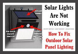 how to fix outdoor solar panel lighting