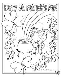 Small Picture Printable Coloring Pages St Patricks Day Coloring Pages
