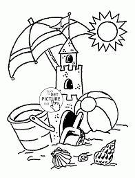 Small Picture Summer on the Beach coloring page for kids seasons coloring pages
