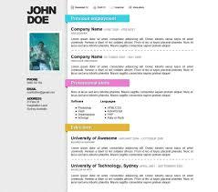 Nice Resume Template Free Samples Templates Myenvoc