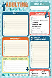 List To Do Adulting Note Pad To Do List Peter Pauper Press 9781441322692