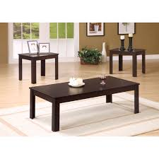 monarch specialties piece occasional set dark taupe master sauder beginnings coffee table cinnamon cherry red and