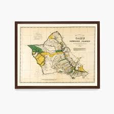 oahu map hawaii map hawaii poster oahu