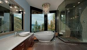 bathroom lighting chandelier. 50 Bathrooms That Know To Make The Most Of Great Views Bathroom Lighting Chandelier R