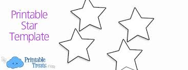 printable star printable star template printable treats com