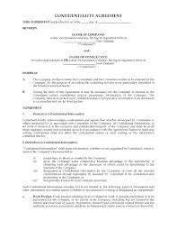 Confidentiality Agreement For Outside Consultants | Legal Forms And ...