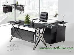 tempered glass office desk. Plain Design Glass Office Tables Tempered Desk Boss Table Commercial Furniture T