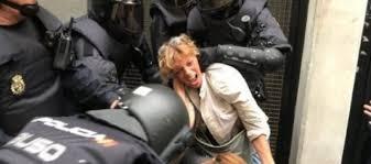 Resultado de imagen para violencia en cataluña