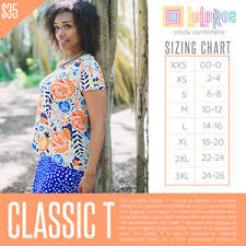 Details About Bnwt Lularoe Classic Tee Mystery Print