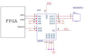 dc motor interface spartan3 fpga development kit schematics to interface dc motor spartan3 fpga development kit