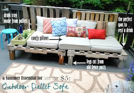 how to make pallet furniture. A Summer Essential For The Patio Or Deck: An Outdoor Pallet Sofa - Easy To How Make Furniture