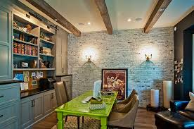 25 home offices with brick walls