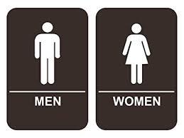 Handicap Bathroom Signs Simple Amazon ADA Men Women's Restroom Sign Set Brown Office Products