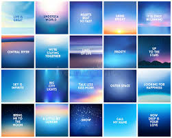 Blue Quotes Interesting BIG Set Of 48 Square Blurred Nature Dark Blue Backgrounds With
