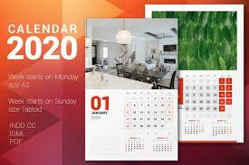 Designing A Calendar In Indesign Wall Calendar 2020 Calendar Poster Affiliate Calendar